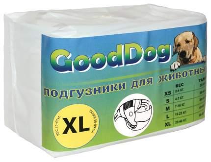Подгузники для домашних животных GoodDog для собак размер XL 51,5x32 мм 10 шт