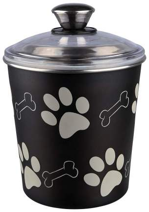 Емкость для хранения корма Trixie Для собак Черная 1,9л