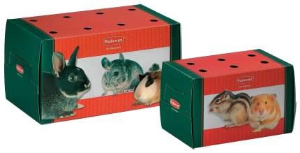 Переноска для грызунов Padovan Trasportino piccolo одноразовая картонная, 16х9х10 см