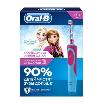 Подарочный набор ORAL_B Электрическая зубная щетка Stages Power Frozen D12+чехол