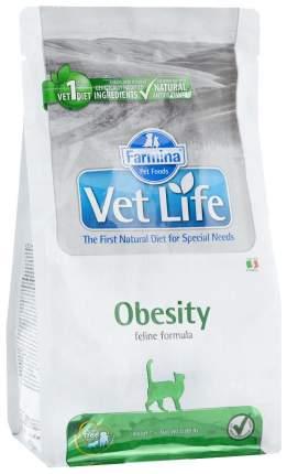 Сухой корм для кошек Farmina Vet Life Obesity, для снижения лишнего веса, курица, 0,4кг