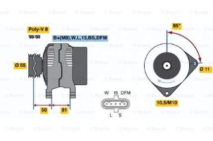 Генератор Bosch 0 124 555 006