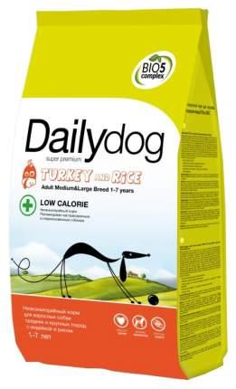 Сухой корм для собак Dailydog Adult Medium-Large Breed Low Calorie, индейка и рис, 12кг