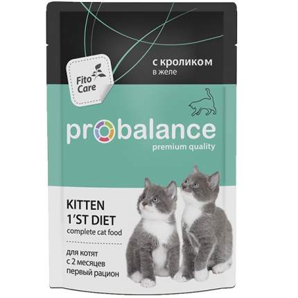 Влажный корм для котят ProBalance 1'st Diet, кролик, 25шт, 85г
