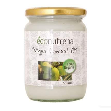 Масло кокосовое Econutrena органическое первого холодного отжима 500 мл