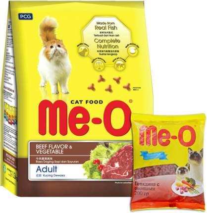 Сухой корм для кошек Ме-О Complete nutrition Adult, говядина, овощи, 35шт по 200г