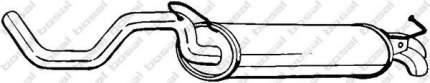 Глушитель выхлопной системы VW Golf 99-04, Seat Leon 01 bosal 278145