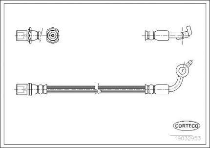 Шланг тормозной CORTECO 19032953