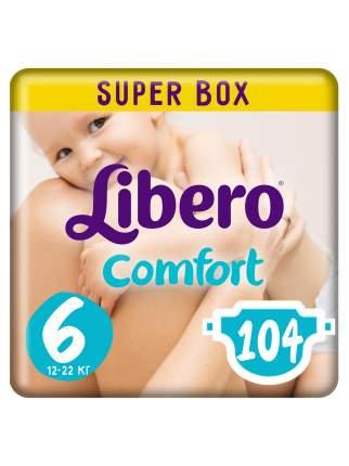 Подгузники Libero Comfort Size 6 (12-22кг), 104 шт.