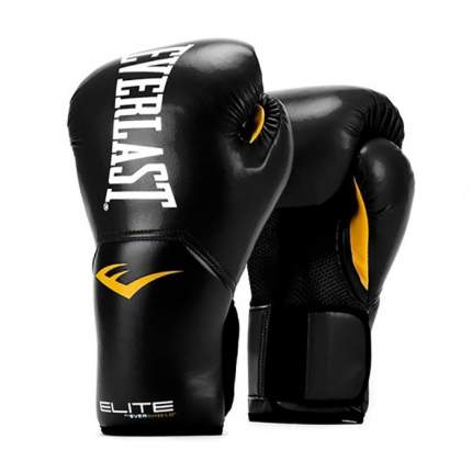 Боксерские перчатки тренировочные Everlast ProStyle черные 12 унций