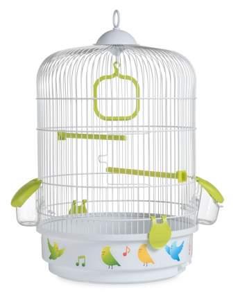 Клетка для птиц Voltrega (736) цвет белый/зеленый