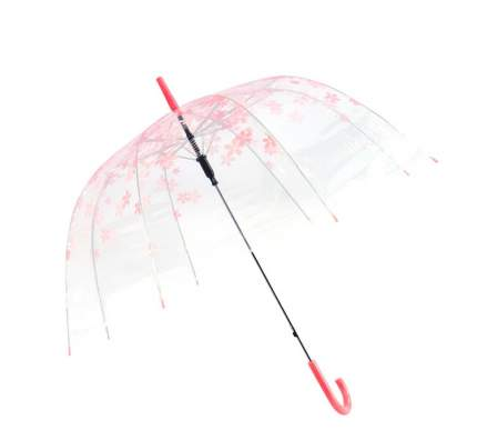 Зонт-трость механический Bradex Нежность прозрачный/розовый