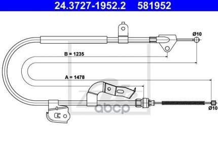 Трос стояночного тормоза ATE 24372719522