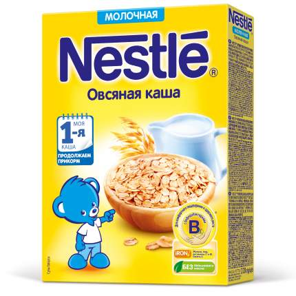 Каша молочная Nestle Овсяная с 5 месяцев 220 г