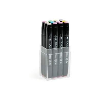 Набор двухсторонних спиртовых маркеров Touch Twin 12шт Пастельные цвета