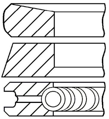 Комплект поршневых колец GOETZE ENGINE 08-422000-00