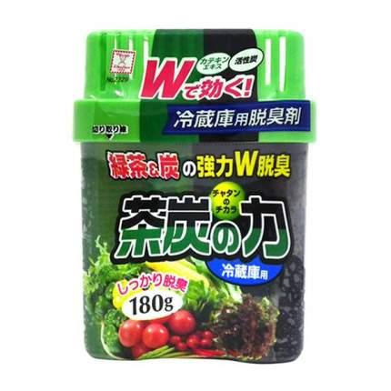 Поглотитель неприятных запахов для холодильника двойной Сила угля и зеленого чая 180 г