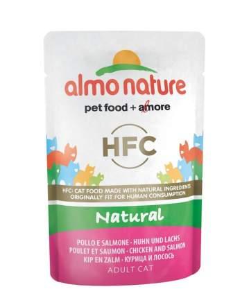 Влажный корм для кошек Almo Nature HFC Natural, курица и лосось, 24шт по 55г