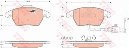 Комплект тормозных колодок TRW/Lucas GDB1550