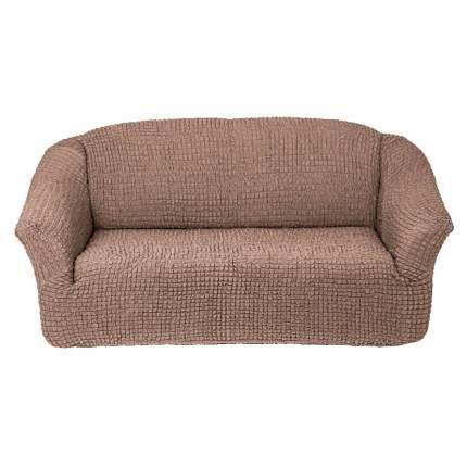 комплект чехлов Karbeltex Комфорт на 3-х местный диван без оборки, цвет кофе с молоком