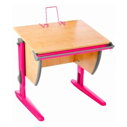Парта школьная ДЭМИ СУТ-14 75х55 см клен, розовый,