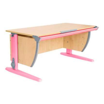 Парта ДЭМИ СУТ-15-02 120х55 см + 2 задние и боковая приставки клен, розовый,
