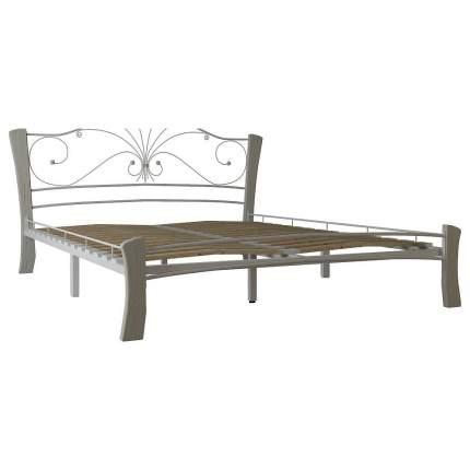 Кровать двуспальная Форвард Фортуна 4 160х200 см, серый