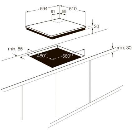 Встраиваемая варочная панель газовая Zanussi ZGG65414CA Black/Gold