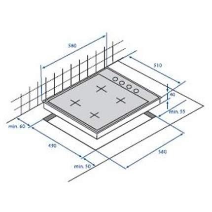 Встраиваемая варочная панель газовая Beko HIZG 64125 AVR Beige
