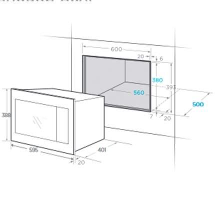 Встраиваемая микроволновая печь Midea TG925B8D-BL