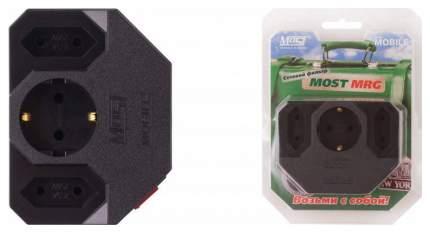Сетевой фильтр MOST Mobile MRG, 3 розетки Black