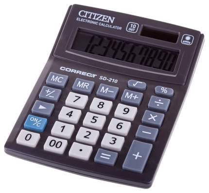 Калькулятор CiTiZEN SD-210 Черный