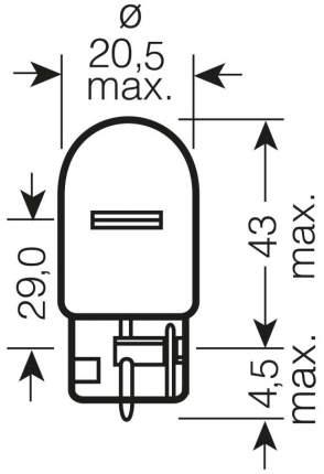 Лампа накаливания автомобильная OSRAM 12V 21WWx3x16D (7504)