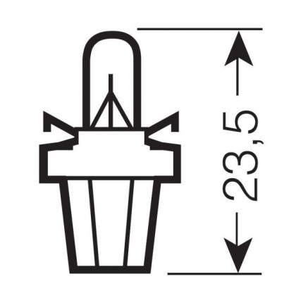 Лампа накаливания автомобильная OSRAM 24 V 1.2W (2741MFX)