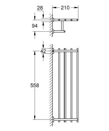 Полка GROHE Essentials Cube хром (40512001)