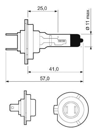 Лампа галогенная VALEO 55W PX26d 32519