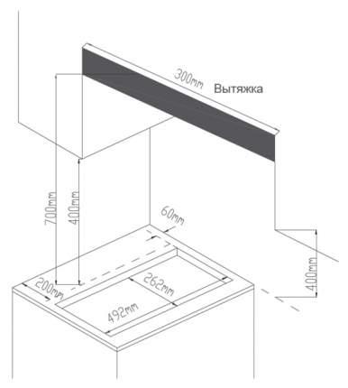 Встраиваемая варочная панель газовая Midea MG3260GB Black