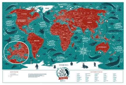 Географическая карта 1DEA.me Travel Map Marine World
