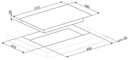 Встраиваемая варочная панель индукционная Smeg SIM631WLDR Black