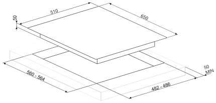 Встраиваемая варочная панель газовая Smeg PV364LCN Black