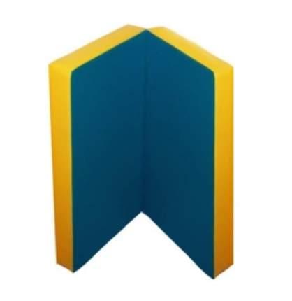 Детский спортивный мат Kampfer №4 (100 x 100 x 10 см) сине-желтый