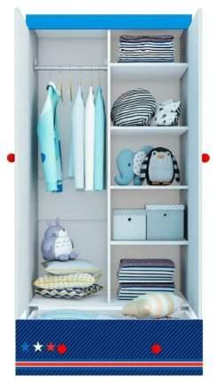 Детский шкаф двухсекционный Polini kids Маша и Медведь Fun 890 Синий