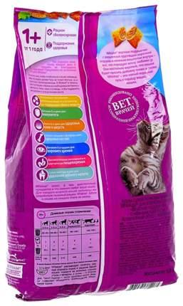 Сухой корм для кошек Whiskas, подушечки с паштетом, лосось, 1,9 кг