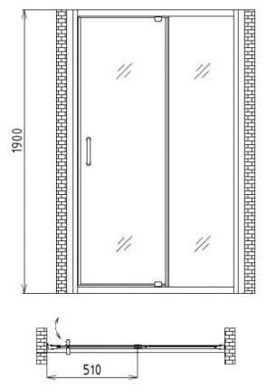 Душевая дверь gemy sunny bay s28191c
