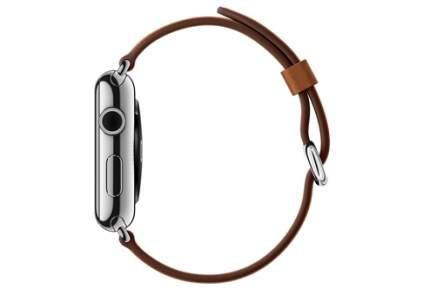 Apple Watch 38 мм, коричневый ремешок с классической пряжкой 125-200 мм