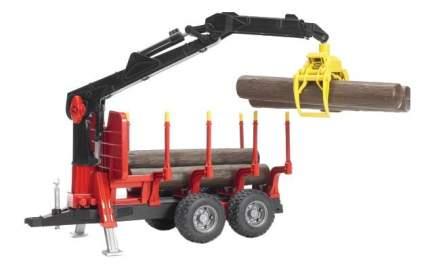 Прицеп для перевозки леса с манипулятором и брёвнами Bruder