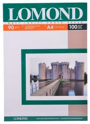 Фотобумага для принтера A4 Lomond Матовая 90г/кв.м 100 листов 0102001