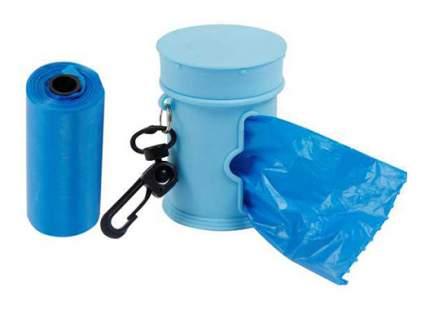 Пакеты для собачьих экскрементов MAJOR футляр+сменные пакеты, синий, 2 рулона по 15 шт