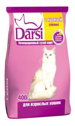 Сухой корм для кошек Darsi, курица, 0,4кг