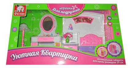 Спальня 100202740 для кукольного дома S+S Toys